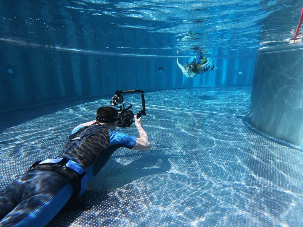Ich bei einem Meerjungfrauen-Shooting.