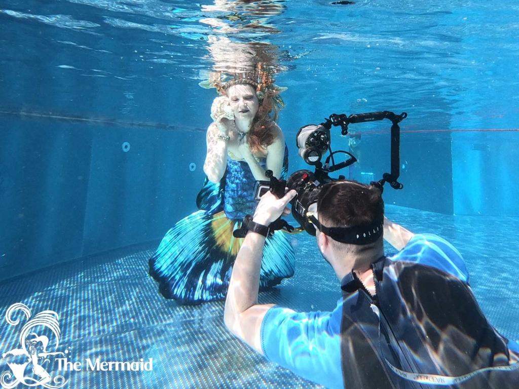 Foto-Shooting mit Georg Sebastian Erdmann beim Meerjungfrauentag im Prienavera. (Foto: Georg Sebastian Erdmann)