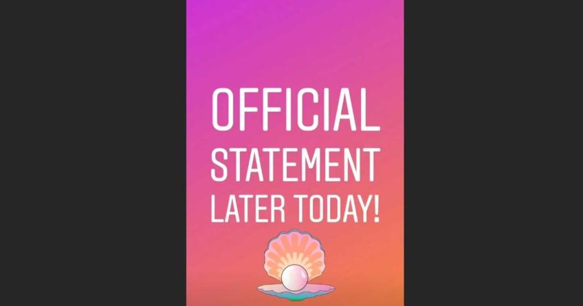 Am Dienstag kündigt Swimtails in einer Instagram-Story ein offizielles Statement an.