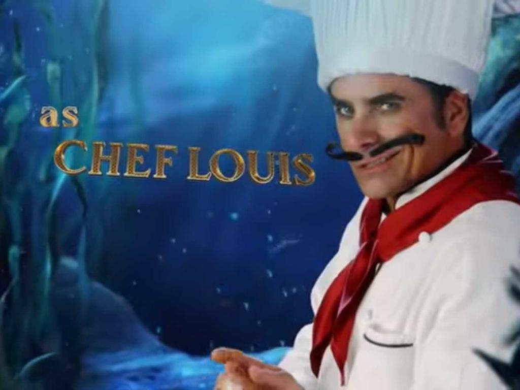 John Stamos ist der Koch in der Live-Musical-Neuverfilmung von Arielle. (Screenshot: ABC)