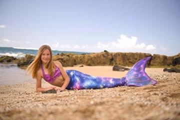 Die Meerjungfrauenflosse Lunar Tide von Fin Fun bleibt bei richtiger Pflege lange Zeit schön bunt.