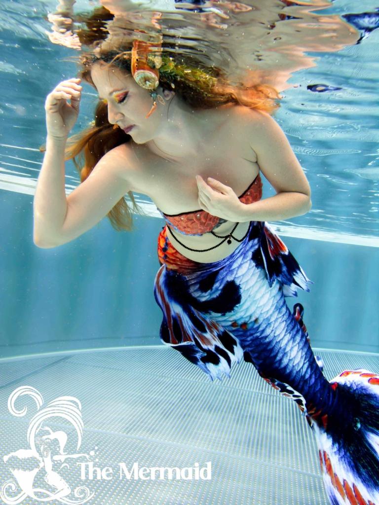 Fotoshooting mit Meerjungfrauenflosse: Seit Jahren bin ich professionelles Unterwasser-Model. Foto: Newpics